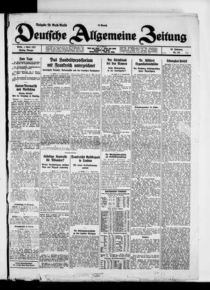 Deutsche allgemeine Zeitung vom 01.04.1927