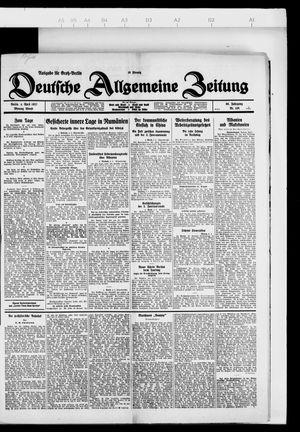 Deutsche allgemeine Zeitung vom 04.04.1927