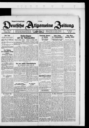 Deutsche allgemeine Zeitung vom 05.04.1927