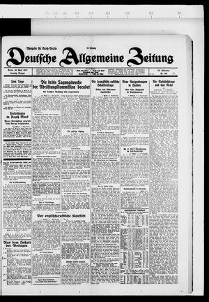 Deutsche allgemeine Zeitung vom 10.04.1927