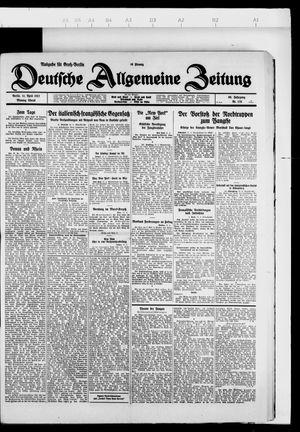 Deutsche allgemeine Zeitung vom 11.04.1927