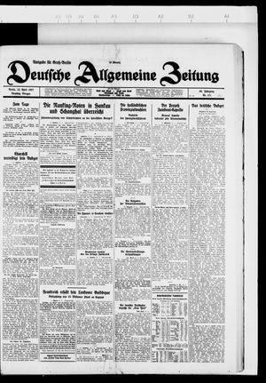 Deutsche allgemeine Zeitung vom 12.04.1927