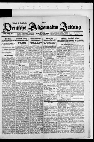 Deutsche allgemeine Zeitung vom 19.04.1927