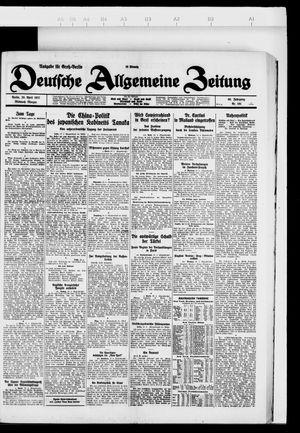 Deutsche allgemeine Zeitung vom 20.04.1927