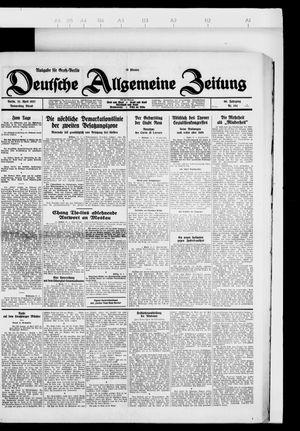 Deutsche allgemeine Zeitung vom 21.04.1927