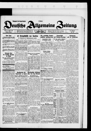 Deutsche allgemeine Zeitung vom 22.04.1927