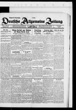 Deutsche allgemeine Zeitung vom 23.04.1927