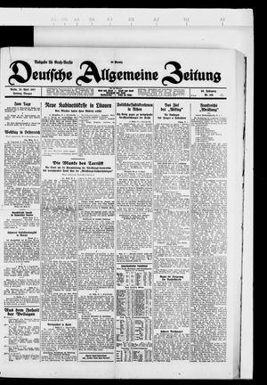 Deutsche allgemeine Zeitung vom 24.04.1927
