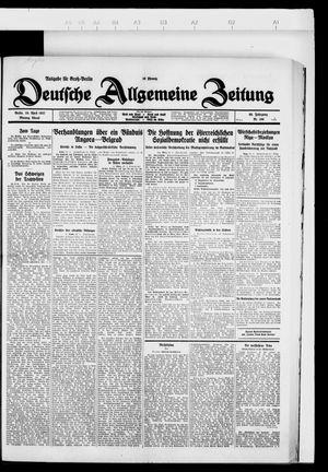Deutsche allgemeine Zeitung vom 25.04.1927