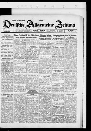 Deutsche allgemeine Zeitung on Apr 27, 1927