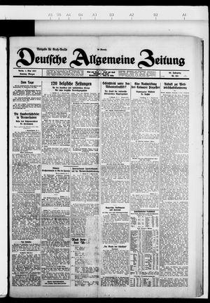 Deutsche allgemeine Zeitung vom 01.05.1927