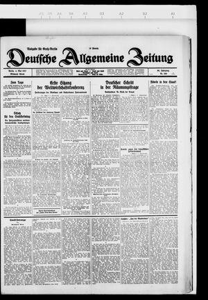 Deutsche allgemeine Zeitung vom 04.05.1927