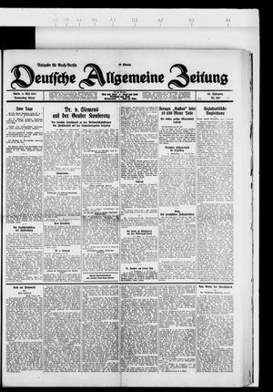 Deutsche allgemeine Zeitung on May 5, 1927
