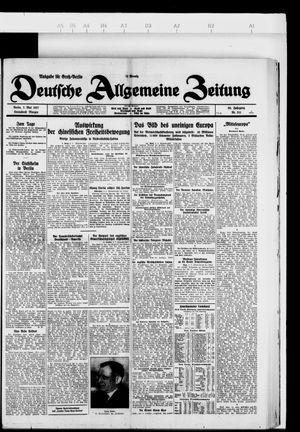 Deutsche allgemeine Zeitung vom 07.05.1927