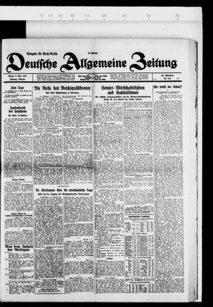 Deutsche allgemeine Zeitung vom 08.05.1927