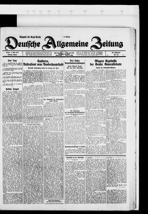 Deutsche allgemeine Zeitung vom 09.05.1927