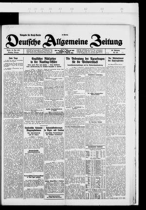 Deutsche allgemeine Zeitung vom 10.05.1927