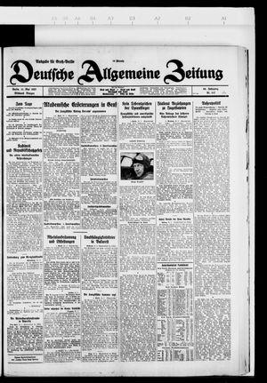Deutsche allgemeine Zeitung vom 11.05.1927