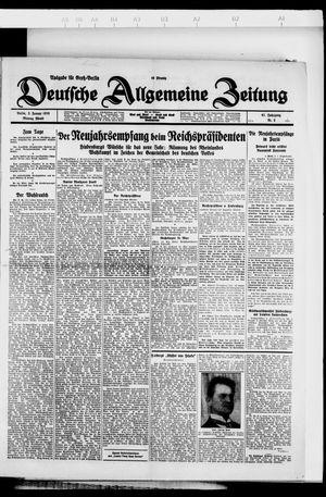 Deutsche allgemeine Zeitung vom 02.01.1928