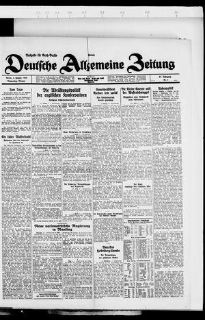 Deutsche allgemeine Zeitung vom 05.01.1928