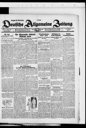 Deutsche allgemeine Zeitung on Jan 12, 1928