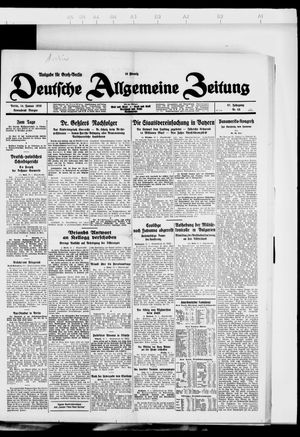 Deutsche allgemeine Zeitung vom 14.01.1928