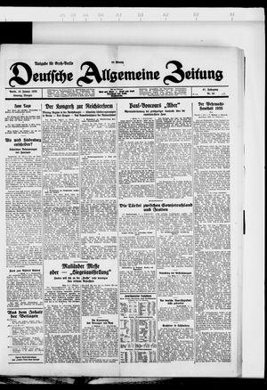 Deutsche allgemeine Zeitung on Jan 15, 1928