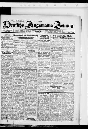 Deutsche allgemeine Zeitung on Jan 16, 1928