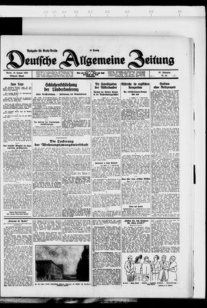 Deutsche allgemeine Zeitung vom 18.01.1928