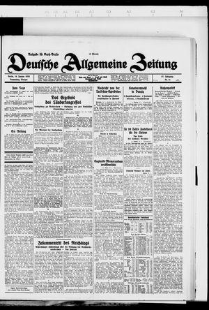 Deutsche allgemeine Zeitung vom 19.01.1928