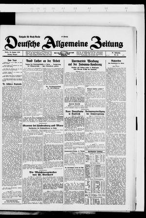 Deutsche allgemeine Zeitung vom 20.01.1928