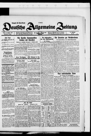 Deutsche allgemeine Zeitung vom 21.01.1928