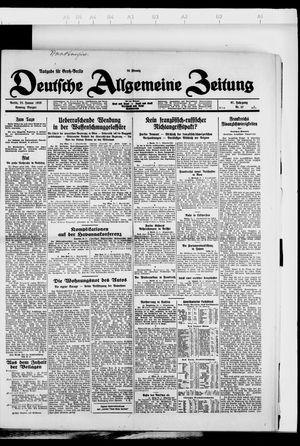 Deutsche allgemeine Zeitung vom 22.01.1928