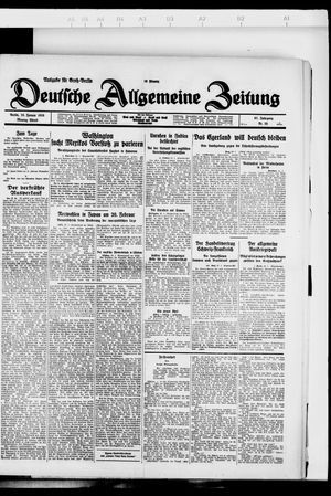 Deutsche allgemeine Zeitung vom 23.01.1928