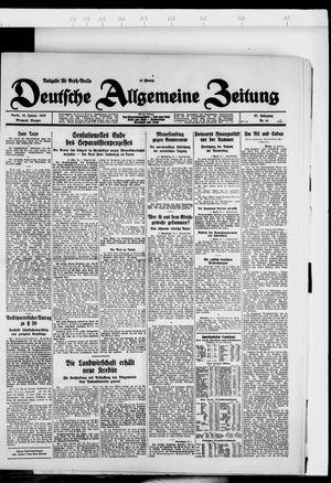 Deutsche allgemeine Zeitung vom 25.01.1928