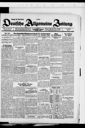 Deutsche allgemeine Zeitung vom 26.01.1928