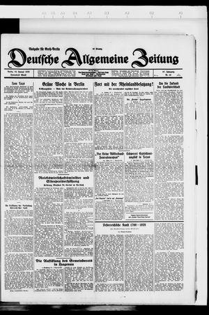 Deutsche allgemeine Zeitung vom 28.01.1928
