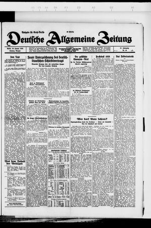 Deutsche allgemeine Zeitung vom 29.01.1928