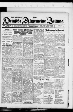 Deutsche allgemeine Zeitung vom 30.01.1928