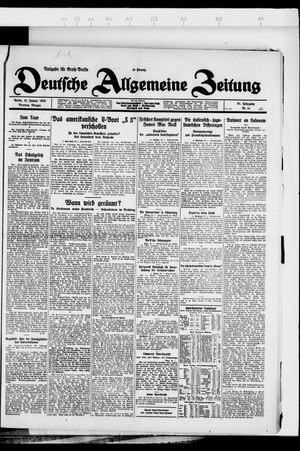 Deutsche allgemeine Zeitung vom 31.01.1928