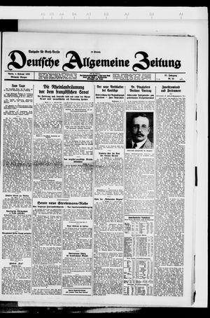 Deutsche allgemeine Zeitung vom 01.02.1928