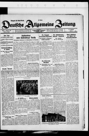 Deutsche allgemeine Zeitung vom 07.02.1928