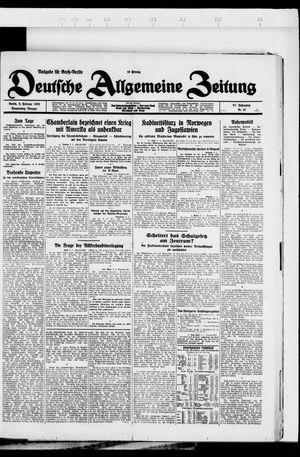 Deutsche allgemeine Zeitung vom 09.02.1928