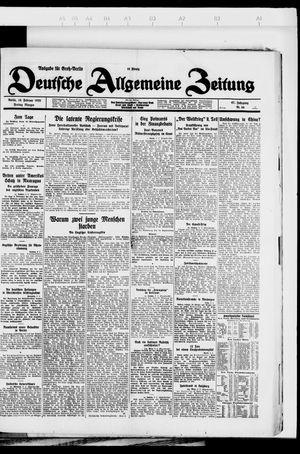 Deutsche allgemeine Zeitung vom 10.02.1928