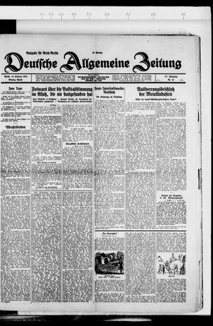 Deutsche allgemeine Zeitung vom 13.02.1928
