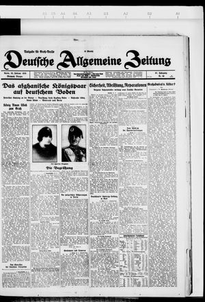 Deutsche allgemeine Zeitung vom 22.02.1928