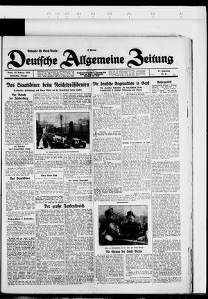 Deutsche allgemeine Zeitung vom 23.02.1928