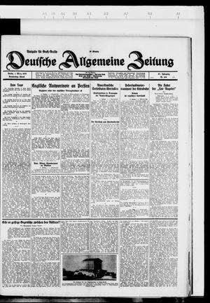 Deutsche allgemeine Zeitung on Mar 1, 1928