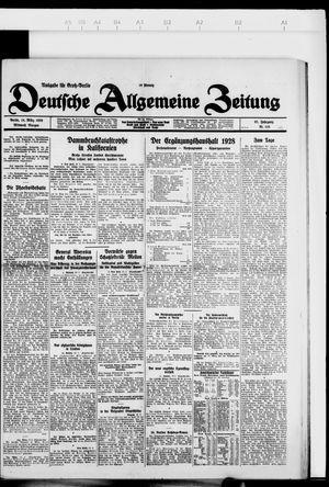 Deutsche allgemeine Zeitung vom 14.03.1928