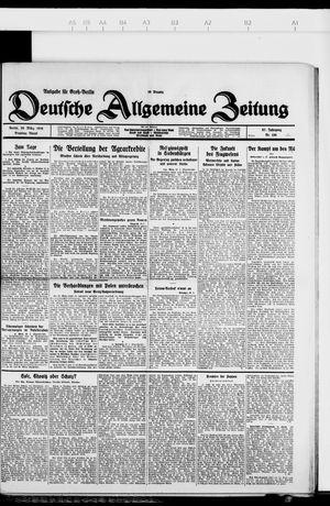 Deutsche allgemeine Zeitung vom 20.03.1928